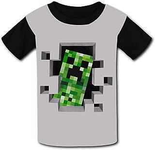 QIANBAIHUI Kids Youth Green Monster 3D Printed Crew Neck T Shirt Tee