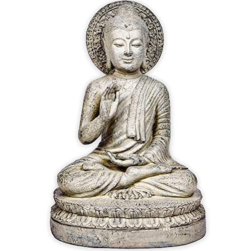 Zen World Buddha Statue, 14' Buddha for Zen Decor Meditation Decor Buddha Decor