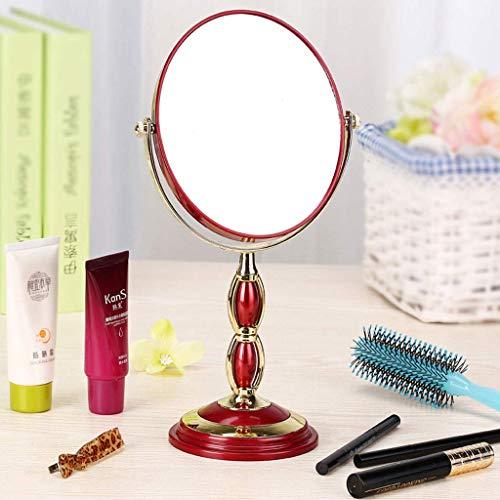 QGL-HQ Maquillage européen Miroir Miroir de Bureau Double Face Miroir 3 Fois Miroir grossissant Portable