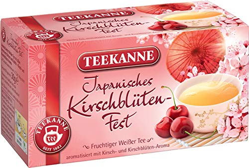 TEEKANNE witte thee Japans kersenbloesem-feest, zakje gebuffeld, 20 zakjes à 1,5 g, je ontvangt 1 verpakking