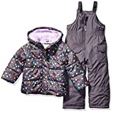 Carter's Girls' Toddler Heavyweight 2-Piece Skisuit Snowsuit, Dots on Gray, 2T