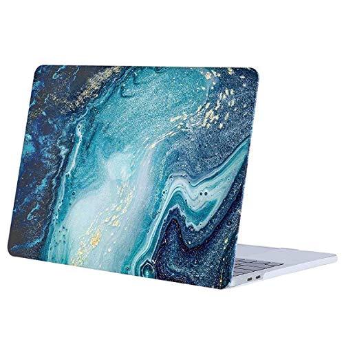MOSISO Hülle Kompatibel mit MacBook Pro 13 2019 2018 2017 2016 Freisetzung A2159/A1989/A1706/A1708 - Plastik Muster Hartschale Kompatibel mit MacBook Pro 13 Zoll, Kreative Welle Marmor