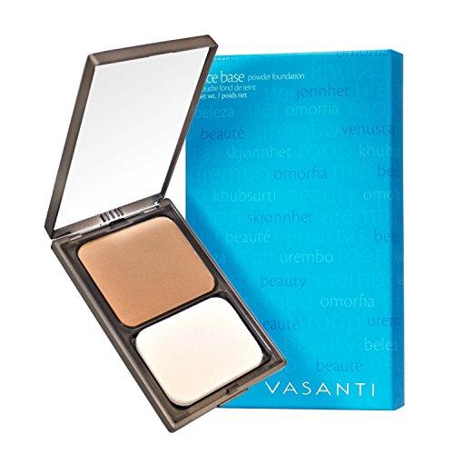 Vasanti Face Base Powder Foundation with Mineral Pigments - Oil-Free, Paraben-Free (V2 - Warm Light to Medium) by Vasanti Cosmetics