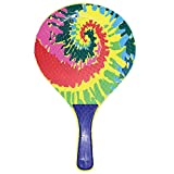 Racchettoni da spiaggia in legno con pallina multicolor, coppia racchette beach tennis in legno da 8mm, coppia racchetta da spiaggia completa di pallina,racchette da spiaggia,racchettoni mare in legno