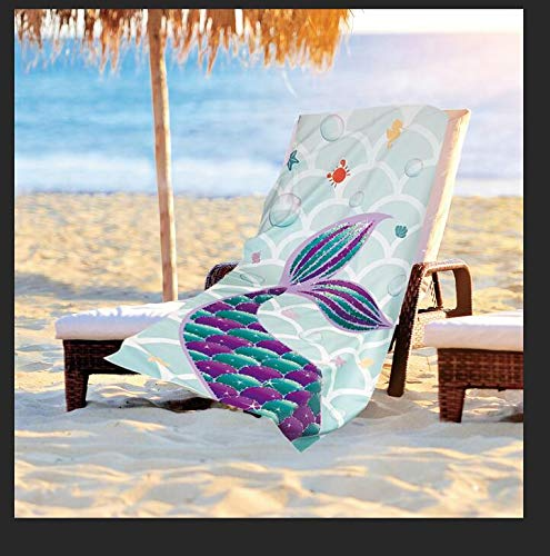 WERNNSAI Toallas Playa Sirena - 76 × 152cm Manta