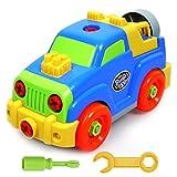 Akokie Jeep Bambini Kit Montaggio Giocattoli Auto Veicolo Regalo Creativo Macchina per Bambini 3 4 5 6