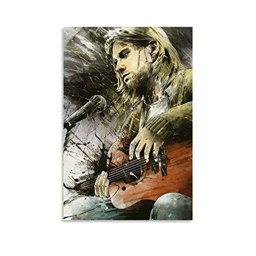 CHAOZHE Kurt Cobain Famous Rock Music Singer Cool Póster de pared para colgar cuadros de arte carteles regalo dormitorio decoración del hogar 30 x 45 cm