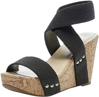 comprar comparacion Luckycat Sandalias De Mujer, Verano CuñAs Flor Zapatillas Plataforma Impermeable Mujeres Sandalias CuñA Sandalias Zapatill...