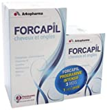 Arkopharma Forcapil Vitamins for Hair Loss, Volumizing, and Nails 180 Caps+ 60 Caps for Free by Forcapil