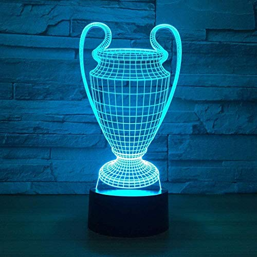 Boutiquespace 3D Cartoon Night Lights Baby Sleep Creative Lamp Trophy Lamp 7 Colors Change Touch Touch Button Bedroom Sleep Gift 3D Cartoon Night Light USB Desk Lamp Baby Led Sleep Light with