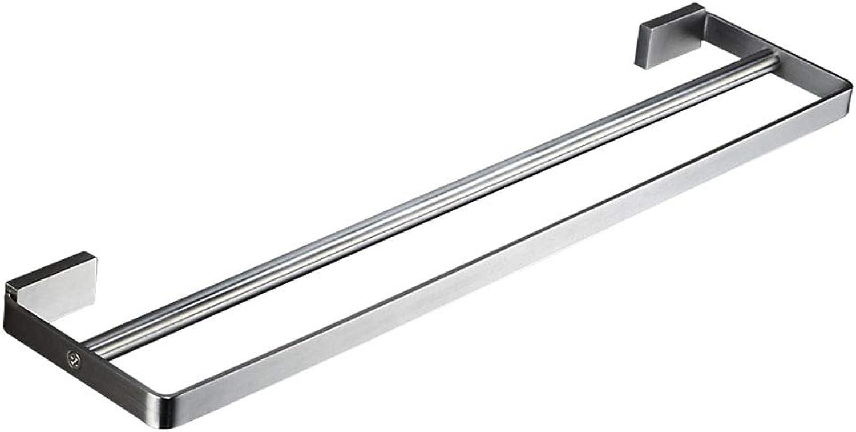 Toalla de Acero Inoxidable 304 Doble Poste Perforado Sola Capa Toallero de bao de Barra bao de suspensión de Barras (5 Tamaños) (Tamaño   700mm)