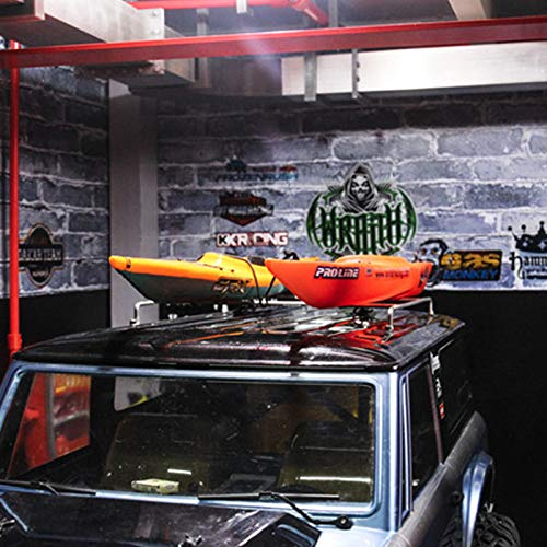 TOOGOO Kajak Modell für 1/10 RC Crawler Auto TRX4 D90 D110 Axial Scx10 90046 90047 Bronco, Rot