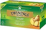 Twinings Tè Verde allo Zenzero - Tè Verde combinato con Zenzero e Lemongrass, per una Miscela Rinfrescante, Speziata e Dissetante (1 Box)