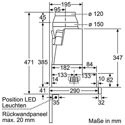 Bosch DFS067J50 Serie 8 Flachschirmhaube – Edelstahl - 10