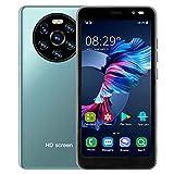 Jopwkuin Unlocked Smartphones, Mate40 Pro 5.45In Unlocked Cell Phone with HD Screen RAM 512MB+ROM 4GB Dual-Core Dual Card Dual Standby Smart Phone with Face Unlock & 128GB Extension(Green)