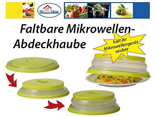 My Home Faltbare Mikrowellen Abdeckhaube, grün
