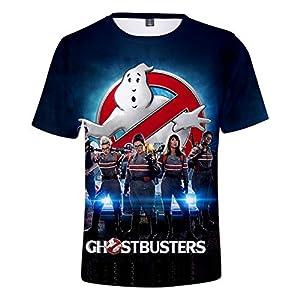 CYANDJ-Ghostbusters-T-Shirt à Manches Courtes Imprimé en 3D pour Enfants, Polo De Loisirs pour Enfants D'éTé, T-Shirt De Plage à SéChage Rapide Imprimé Unisexe-160
