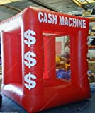 Welljoin Red Color Inflatable Money Machine Cash Cube Money Booth for Sale
