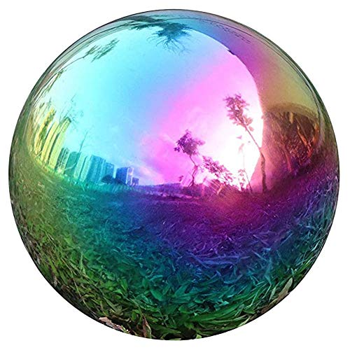 Isbasic Gazing Globe Regenbogen Edelstahl Glänzende Kugel Gazing Balls für Garten und Hof, 20 cm (1 (120 mm)