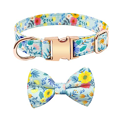 Girl Dog Collar for Dog Gifts, Dog Bow Tie Collar for Medium and Large Dogs, Pet...