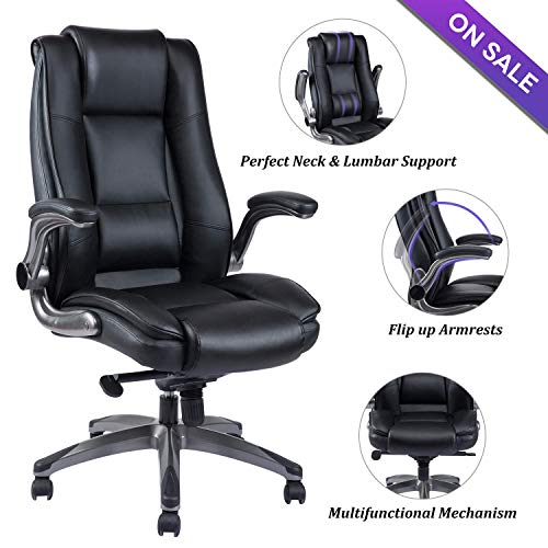 Vanbow High Back Leather Office Chair