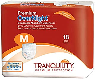Premium Overnight Disposable Absorbent Underwear Quantity: Medium - Casepack of 4