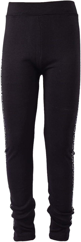 Children's Leggings are Decorated with Rhinestones Black
