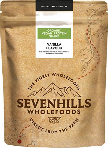 Sevenhills Wholefoods Organic Vegan Protein Powder Shake, Vanilla 500g