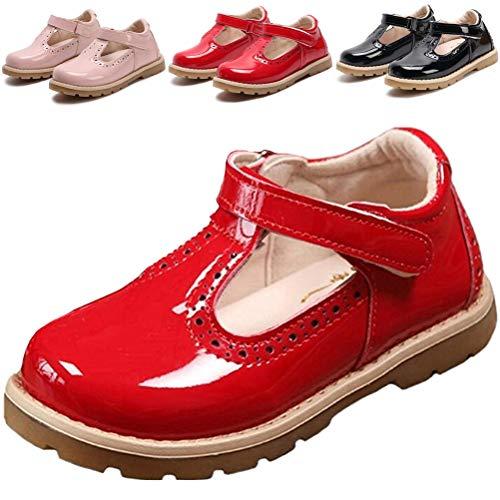 DADAWEN Girl's T-Strap School Uniform Dress Shoe Mary Jane Princess Flat...