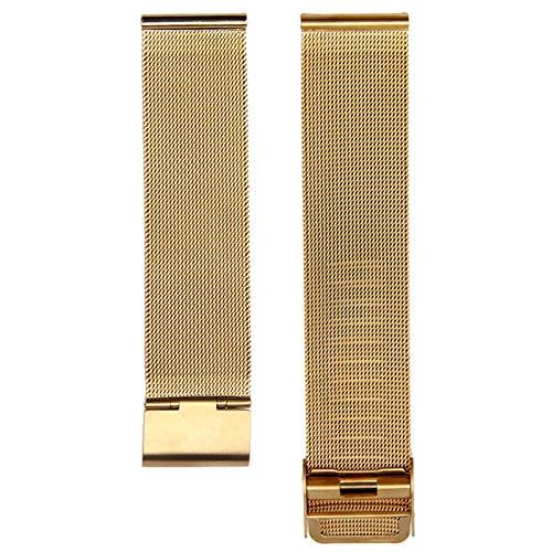 ZZDH Correas Relojes Acero Inoxidable Reloj de Reloj 12mm 14mm 16mm 18mm 20 mm 22 mm 24mm Universal Acero Inoxidable Metal Reloj de Metal Correa Pulsera Black Rose Gold