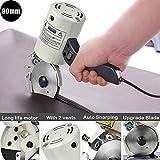 4YANG Taglierina rotante in tessuto da 90 mm Taglierina elettrica per tessuti con dispositivo di affilatura automatico Taglierina per tessuto per trapuntatura, sartoria e cucito
