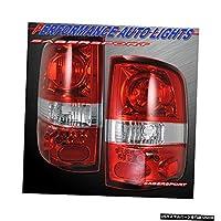 2004-2008 Ford F-150ペアペアレッドクリアレンズAltezzaスタイルテールライト Set o