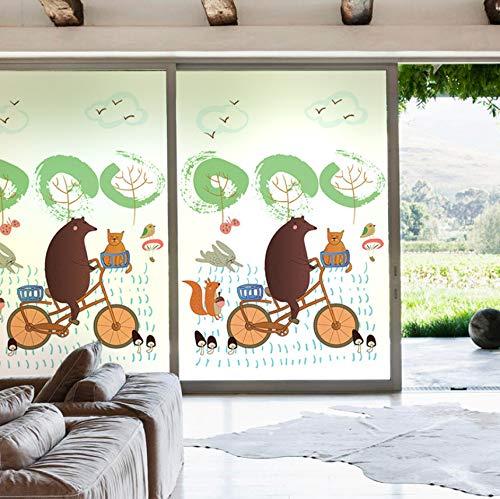 Djkaa aangepaste statische vershoudfolie film gematteerd ondoorzichtige privacy gekleurd decor glas sticker digitale print Sweet Forest