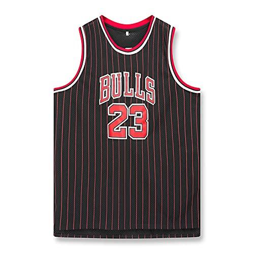 JHGF Camiseta de Baloncesto para Hombre Michael 23 Chaleco de Entrenamiento Juvenil Ropa Deportiva Transpirable Ropa clásica(Negro,XL)