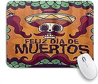 PATINISAマウスパッド デッドデイDiaムエルトスハロウィーンメキシコの頭蓋骨 ゲーミング オフィス おしゃれ 防水 耐久性が良い 滑り止めゴム底 ゲーミングなど適用 マウス 用ノートブックコンピュータマウスマット