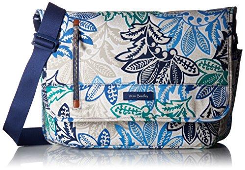 Vera Bradley Women's Lighten Up Laptop Messenger Bag with RFID Protection, Santiago