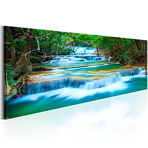 murando - Bilder Wasserfall 135x45 cm Vlies Leinwandbild 1 TLG Kunstdruck modern Wandbilder XXL Wanddekoration Design Wand Bild - Natur Landschaft Wald c-B-0160-b-a