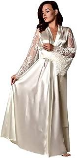 Ausexyy Women's Lace Kimono Robe Babydoll Lingerie Satin Long Nightdress Lingerie Nightgown Sleepwear Sexy Robe