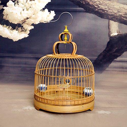 Pet Online Lark jaulas de aves de jaula de bambú caminar en forma de jaula