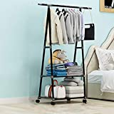 XYBB Armario Dormitorio Ropa Multifuncional Simple Abrigo Móvil Dormitorio...