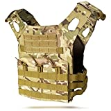 TACWINGS Tactical Vest Modular Lightweight Durable Tactical Gear, Adjustable Ultra-Light Breathable Protection Vest for Outdoor Paintball Training - CP
