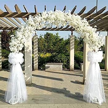 Bureze - Soporte de arco de hierro para boda, diseño de flor de cerezo artificial con flor de cerezo + estante para decoración de ventana: Amazon.es: Hogar