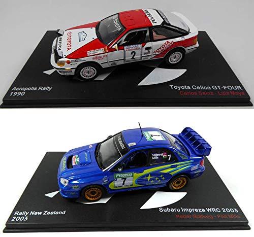 günstig – Viele zwei Rallye-Autos der WRC 1/43: Toyota Celica Sainz + Subaru Impreza Solberg (MAR05 + 01) Vergleich im Deutschland