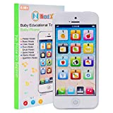 NextX Baby Toys 6 to 12 Months, Interactive Baby Phone with Music and Lights, Play to Learn, Touch Screen Early Preschool Educational Learning Pretend Smartphone for Boys and Girls