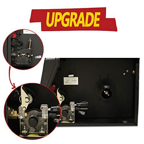 LOTOS MIG140 140 Amp MIG Wire Welder, Flux Core & Aluminum Gas Shielded Welding with 2T/4T Switch Argon Regulator, Metal Wire Feeder, Black/Red