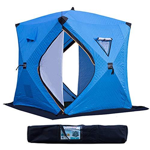 Pesca refugios Tiendas de Campaã±a, Refugio de Hielo portátil de Tela Oxford 210D, Refugio de Peces de Hielo Resistente al Agua para Pesca al Aire Libre - 180 * 180 * 210 cm,Azul