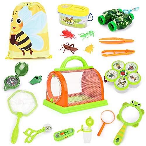 BeebeeRun 21 Piezas Kit de Juguetes de Exploración  Outdoor Explorer Aventura Educativos