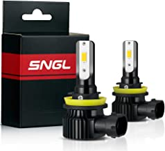 SNGL H8 LED Fog Light Bulb Yellow 3000K 5200LM Super Bright Max 84W High Power for Fog lights (Pack of 2)