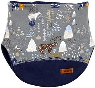 Maximo 男童印花针织带森林图案围巾,蓝色(深蓝色-白色-冬季森林68),2(制造商尺寸:2)