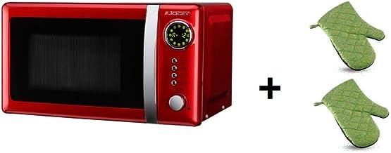 ElectrodomesticosN1 Pack Microondas Jocel JMO001344, 20 Litros, Rojo, 800 w + juego 2 manoplas